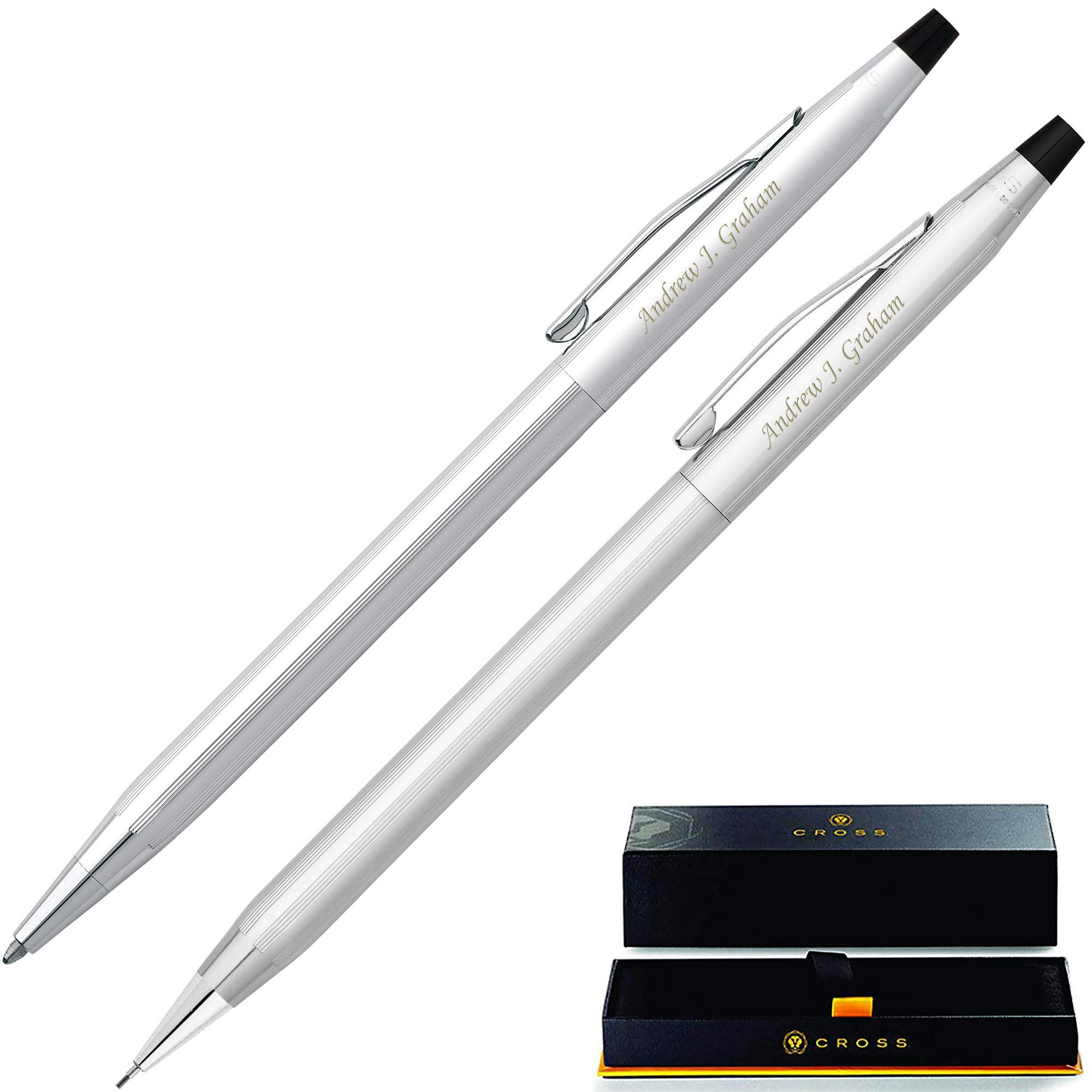 Personalized Cross Pen Set   Cross Classic Century Pen & Pencil Gift Set - Lustrous Chrome. Custom Engraved By Dayspring Pens!
