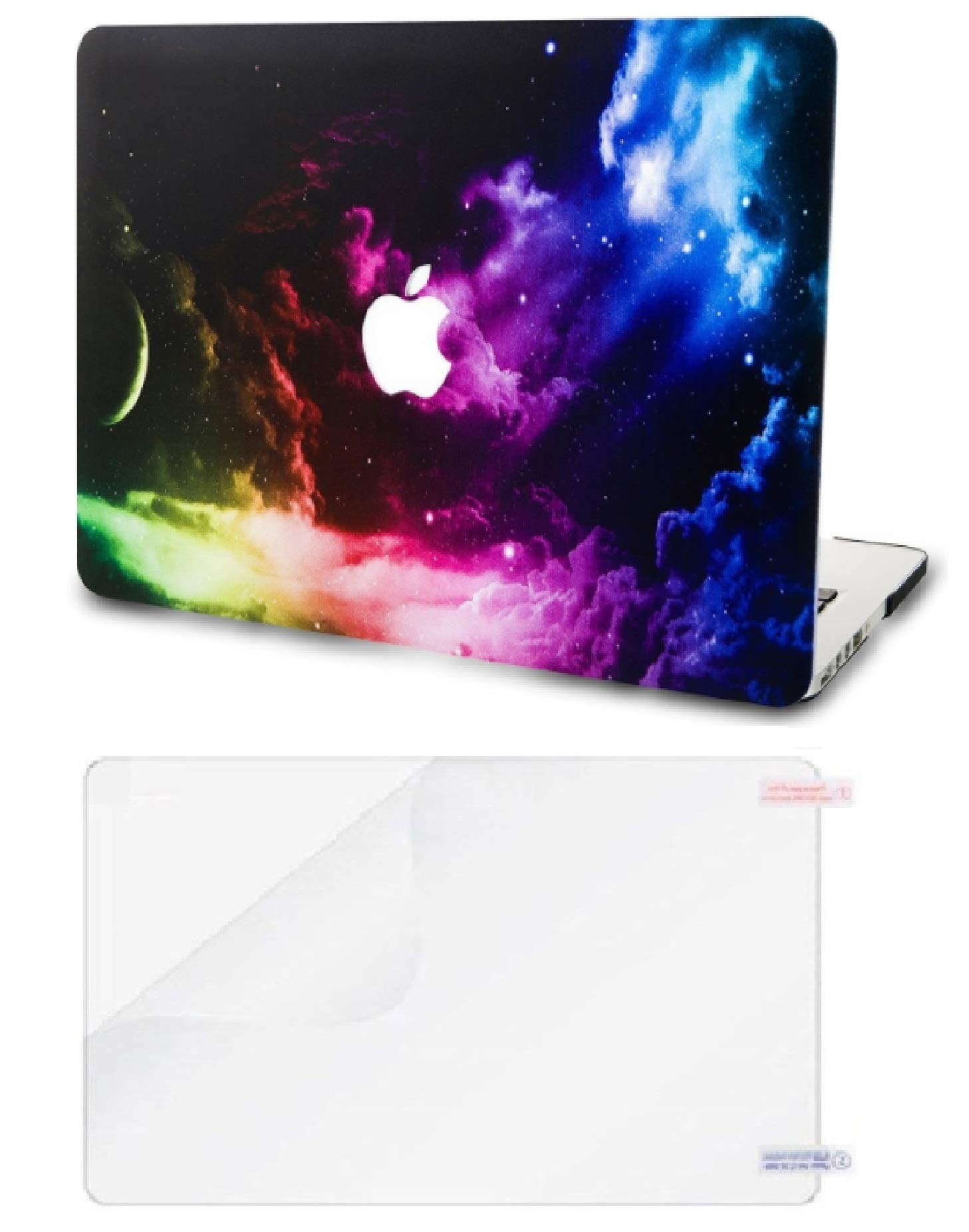 """KECC Laptop Case for Old MacBook Pro 13"""" Retina (-2015) w/Screen Protector Plastic Hard Shell Case A1502/A1425 2 in 1 Bundle (Color Space)"""