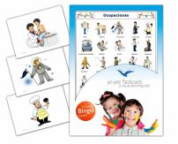 Occupations Flashcards in Spanish Language - Flash Cards with Matching Bingo Game for Toddlers, Kids, Children and Adults - Size 4.13 × 5.83 in - DIN A6