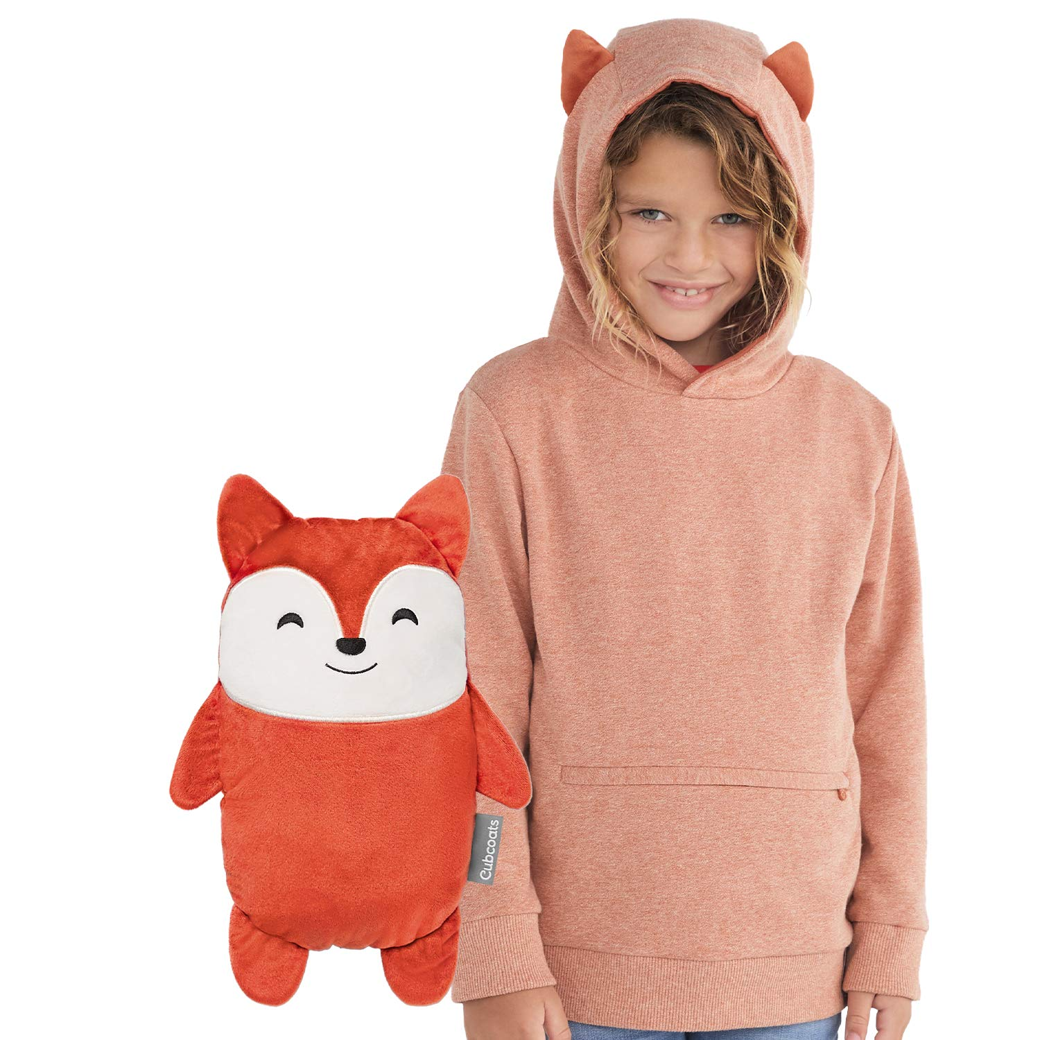 Cubcoats Flynn The Fox 2-in-1 Transforming Pullover Hoodie & Soft Plushie