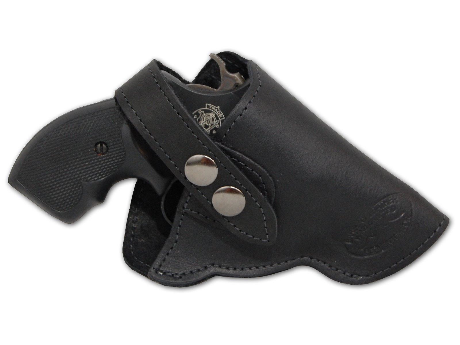 "Barsony New Black Leather OWB Holster for Snub Nose 2"" 22 38 357 41 Revolvers"