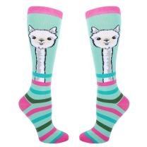 Zmart Women Girl Novelty Over the Calf Socks, Funny Llama Unicorn Chicken Sloth