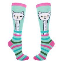 Zmart Women Girl Novelty Over the Calf Socks, Funny Llama Unicorn Chicken Sloth