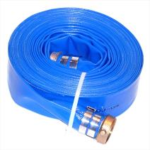 "JGB Enterprises A008-0326-1650 Eagle Hose Eagleflo Eagle PVC Discharge Hose Assembly, Blue, 2"" Male X Female Water Shanks , 85 PSI Maximum Pressure, 2"" Hose ID, 50' Length"