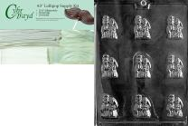 """Cybrtrayd""""Bride and Groom Mints"""" Wedding Chocolate Candy Mold with Packaging Bundle, Includes 25 Cello Bags and 25 White Twist Ties"""