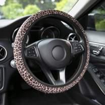 YR Universal Steering Wheel Covers, Cute Car Steering Wheel Cover for Women and Girls, Car Accessories for Women, Leopard