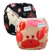 Babygoal One Size Reusable Swim Diapers for 0-2 Year Baby Shower Gift 2SWD0714