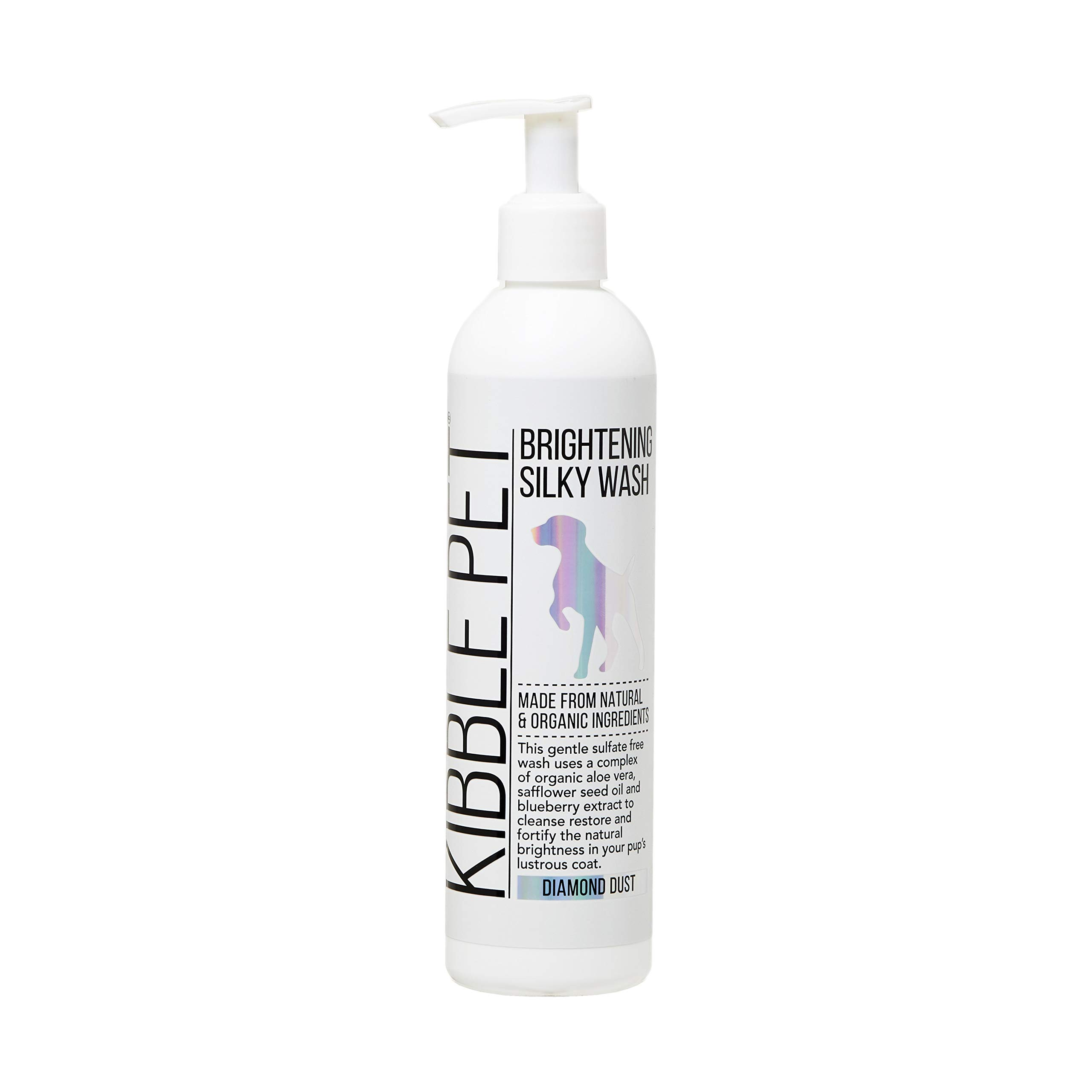 Kibble Pet Salon Quality Brightening Silky Wash Shampoo Sulfate-Free   Hypoallergenic   Made with Natural and Organic Ingredients   Made in The USA