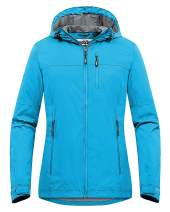 Outdoor Ventures Packable Rain Jacket Women Lightweight Waterproof Raincoat with Hood Cycling Bike Jacket Windbreaker