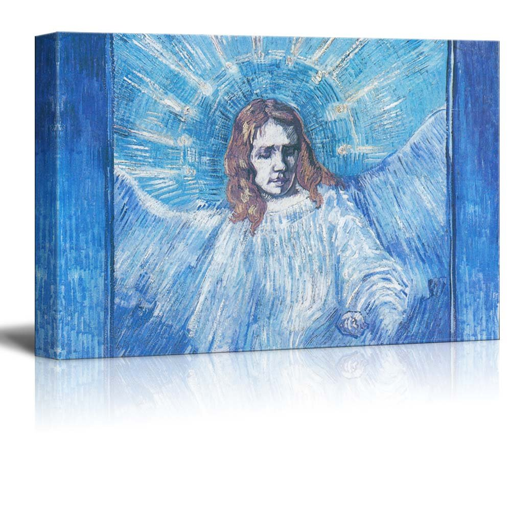 """Head of an Angel, After Rembrandt by Vincent Van Gogh - Canvas Print Wall Art Famous Painting Reproduction - 16"""" x 24"""""""