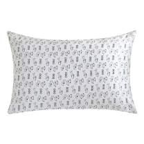 ZIMASILK 100% Natural Silk Pillowcase for Hair and Skin Health, Floral Print,1pc (King20''x36'', pattern17)
