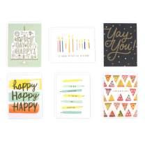 Hallmark Birthday Cards Assortment (6 Cards with Envelopes)