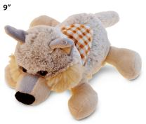 """Puzzled Lying Wolf Plush, 9"""" Adorable, Super Soft, Huggable, Decorative, Excellent Gift, Party Favors, Props,, Surprise Bag Items for Kids Children Toddler Stuffed Animals Toys & Games, Gray"""