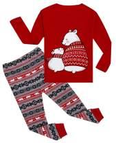 lymanchi Kid Boys Girls Christmas Pajamas Cotton Long Sleeve PJS Sleepwear Sets