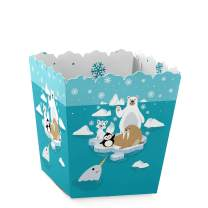 Big Dot of Happiness Arctic Polar Animals - Party Mini Favor Boxes - Winter Baby Shower or Birthday Party Treat Candy Boxes - Set of 12