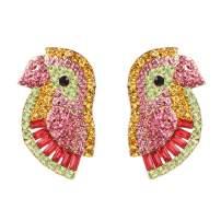 lureme Cute bird Stud Earring Colorful Parrot Earrings for Women (er006261)