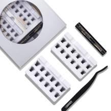 LASHVIEW Lash eyelash kit,cluster lashes,DIY Lash Extension Kit for Home Use,Sensitive Cluster Lash Glue,Lash Extension Kit For Beginners,Self Application,Sensitive Cluster Lash Glue