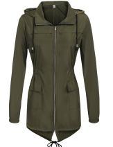 Hount Women's Lightweight Active Outdoor Waterproof Raincoat Hooded Rain Jacket