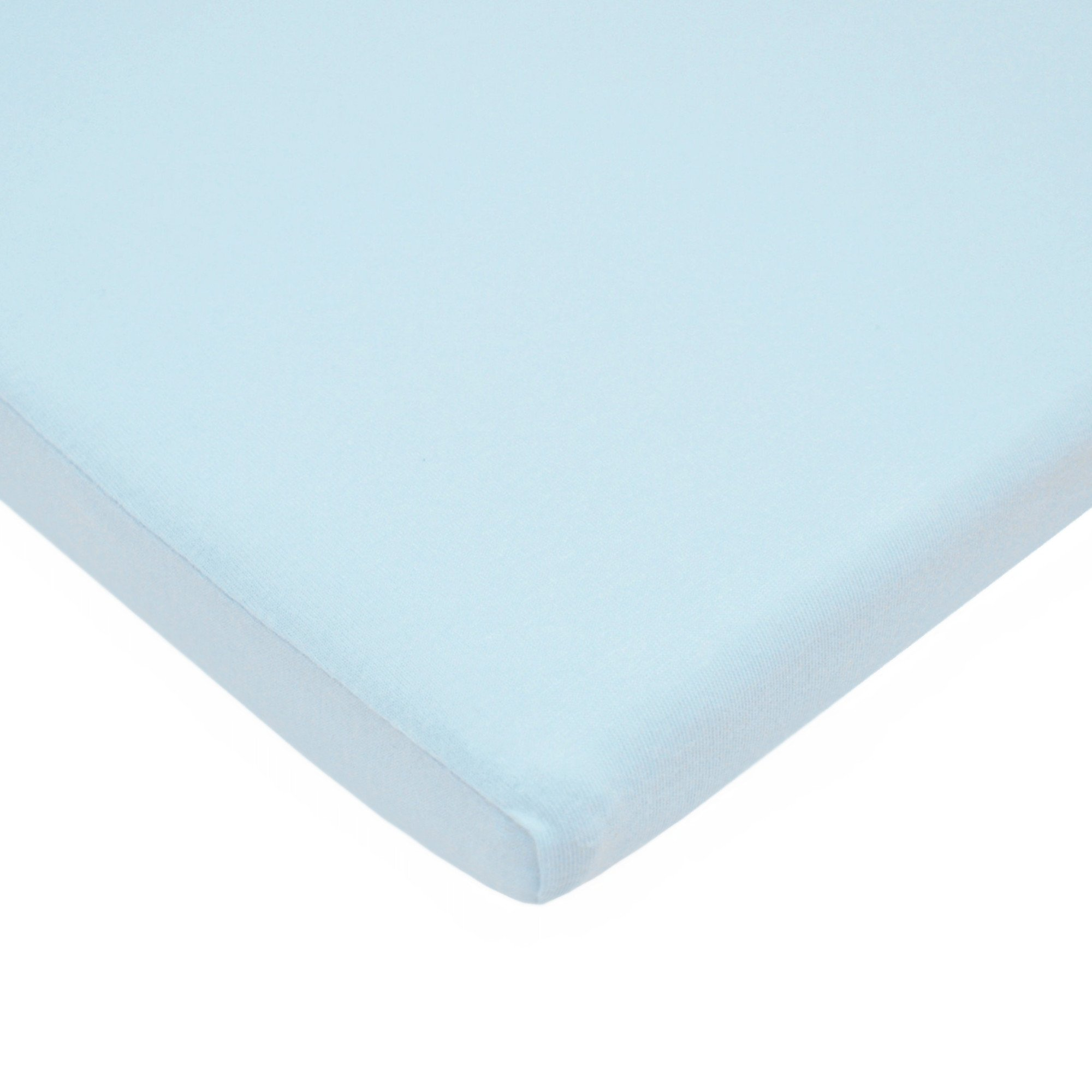 American Baby Company 100% Natural Cotton Supreme Jersey Knit Fitted Bassinet Sheet, Blue, Soft Breathable, for Boys and Girls