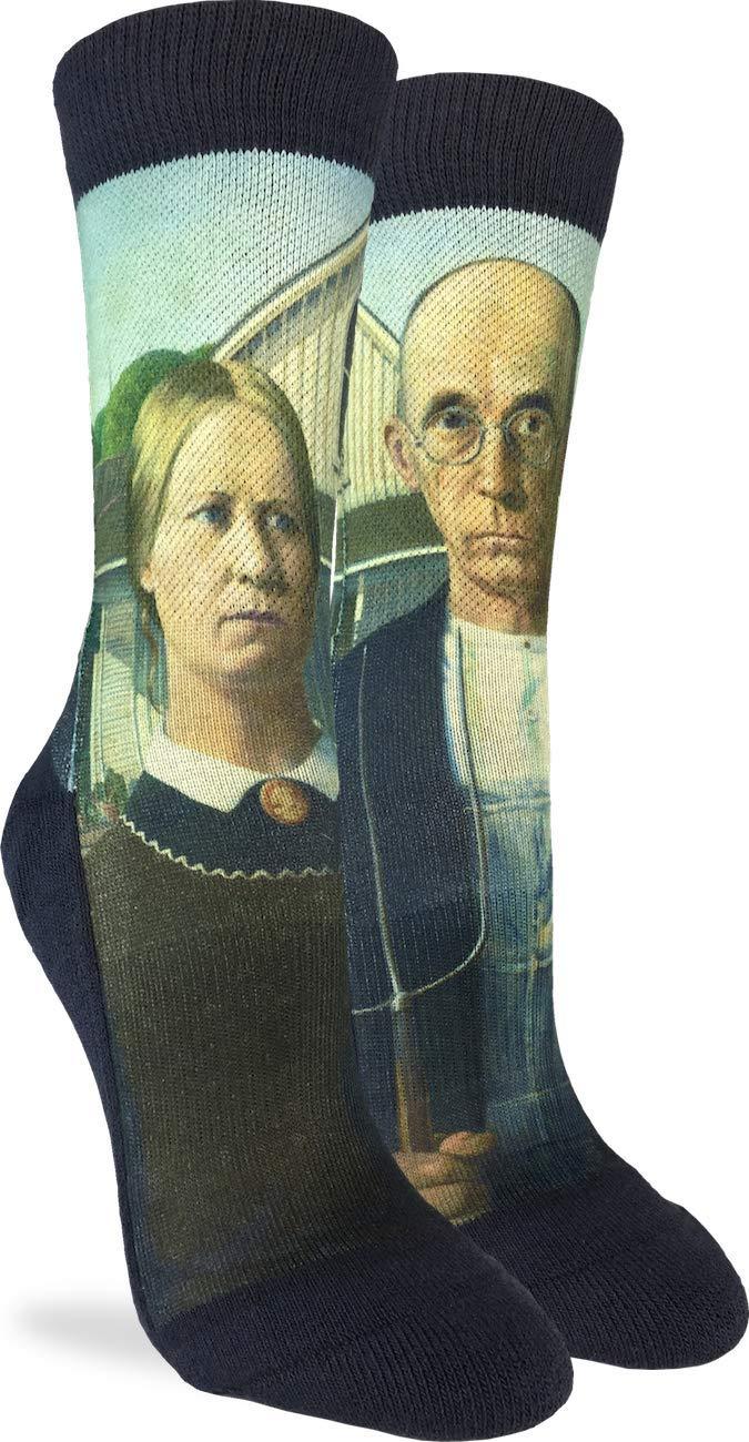 Good Luck Sock Women's American Gothic Socks - Black, Adult Shoe Size 5-9