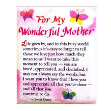 """Blue Mountain Arts Refrigerator Magnet """"For My Wonderful Mother"""" 4.0 x 3.25 in. Perfect Mother's Day, Birthday, Christmas, or """"I Love You"""" Gift for Mom from Son or Daughter—Poem by Jason Blume"""