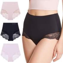 Gloria Vanderbilt Womens 3 Pack Tagless Underwear Lace Trim Brief Panties
