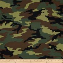 Windham Fabrics Army Camo, Yard, Green