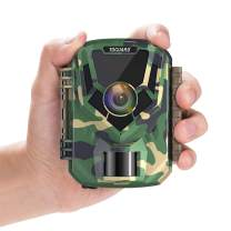 "TOGUARD Mini Trail Camera 1080P HD Game Camera 2"" LCD Screen Small Hunting Trap Camera 12MP with IR Night Vision 120° Wide Angle Waterproof Video Camera for Wildlife Monitoring and Home Observation"