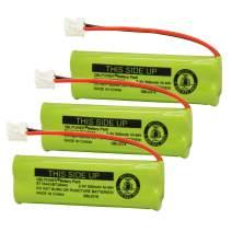 QBLPOWER BT18443 BT28443 BT-18443 BT-28443 Cordless Phone Battery Compatible with VTech LS-6115 LS-6117 LS-6125 LS6126 LS6225 LS6205 LS6217 LS-6205 LS-6215 (3 Pack)