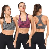 TOBWIZU Sports Bras for Women,Removable Padded Bras Seamless for Yoga Gym Fitness Activewear Workout Bra