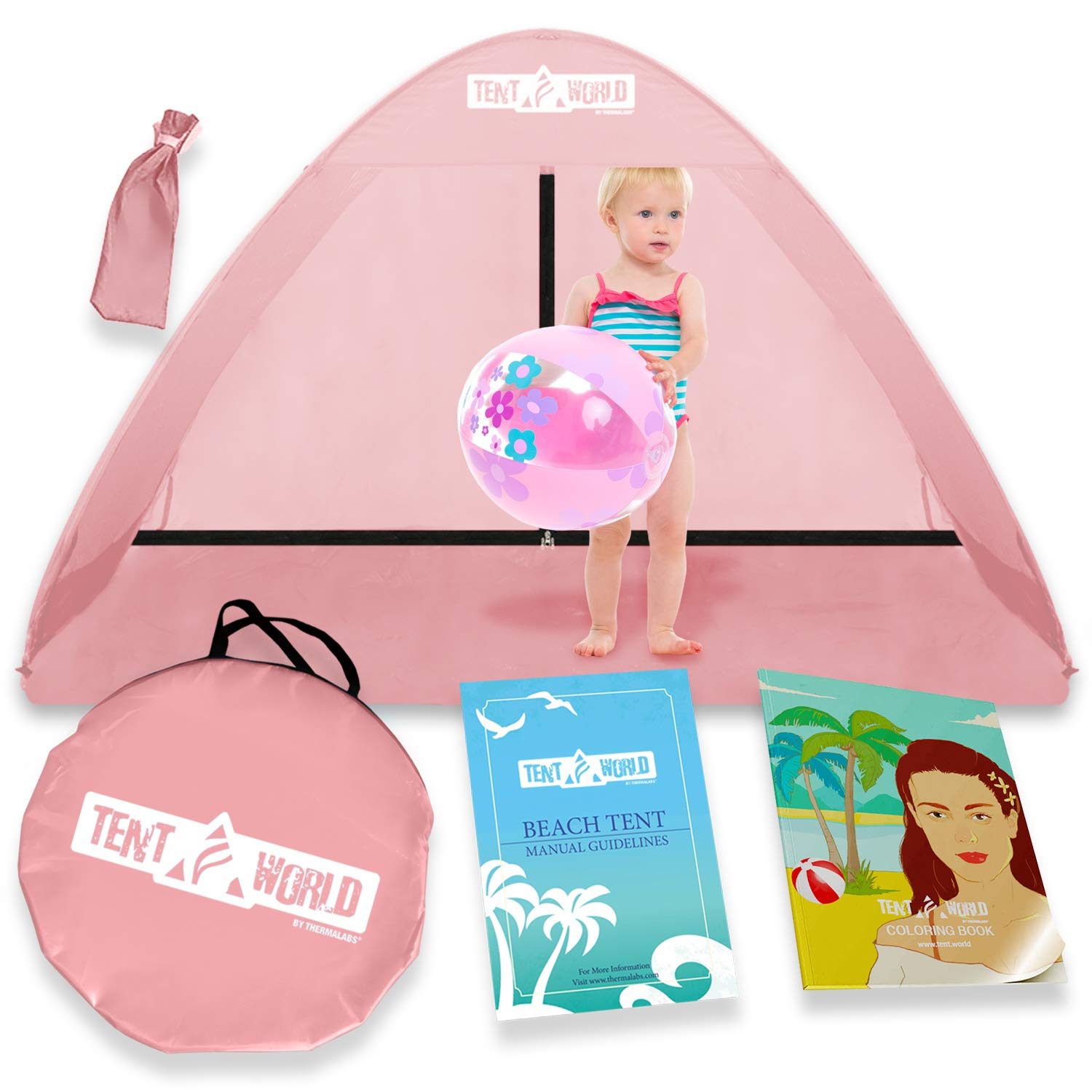 Pop Up Beach Baby Tent for Toddler, Kids, Girls, Boys, Infant & Babies. Popup Sun Protection Shelter Canopy for Camping & Travel Bebe Toddlers Backyard & Indoor Small Play Shade Cabana Dome