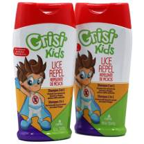 Grisi Kids Lice Repel Shampoo, Cleansing and Lice Repel Shampoo, Helps Prevent the Appearance of Lice with Quassia Extract and Vinegar, Conditions Hair, Pesticide-Free, 2-Pack of 10.14 FL Oz, Bottles