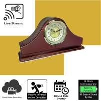 Discover IT   Wi-Fi Hidden Camera Spy Cam Home Surveillance Nanny Cam Mantel Clock with Cloud Video Recording, Battery Operated