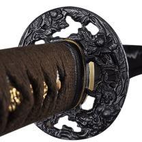 Handmade Sword - Samurai Katana Sword, Practical, Hand Forged, 1045 Carbon Steel, Heat Tempered/Clay Tempered, Full Tang, Sharp, Scabbard