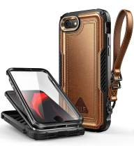 SUPCASE Unicorn Beetle Royal Series Case Designed for iPhone SE 2nd Generation (2020 Release)/iPhone 7/iPhone 8, Built-in Screen Protector Full-Body Rugged Case (Brown)