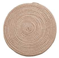 Hand Woven Round Area Rugs Living Room Bedroom Study Computer Chair Cushion Base Mat Round Carpet Lifts Basket Swivel Chair Pad Coffee Table Rug(2' Round, Light Camel)