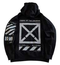 Fabric of the Universe Techwear Cyberpunk Graphic Streetwear Fashion Hoodie Hooded Pullover Sweatshirt