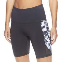 Gaiam Women's Yoga Short - High Rise Performance Spandex Compression Workout & Training Shorts w/Phone Pocket