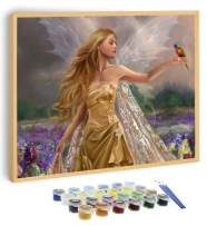 Papivore Paint by Numbers for Adults 15×20 in Canvas, DIY with Family, Acrylic Wall Decor, Angel, Lady