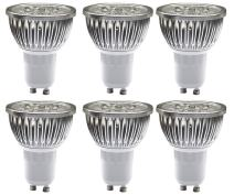 MODOAO 5W GU10 LED Bulbs, Dimmable Spot Light Bulb,Recessed Lighting,110 Volts 30 Degree Beam Angle, 50W Halogen Bulbs Equivalent,500LM,3000K Warm White 6 Pack