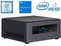 Intel NUC NUC7i5DNHE Mini PC/HTPC, Intel Dual-Core i5-7300U Upto 3.5GHz, 4GB DDR4, 120GB NVMe SSD, 4k Support, Dual Monitor Capable, WiFi, Bluetooth, Windows 10 Pro 64Bit
