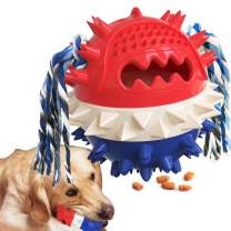 Egantige Squeaky Dog Toys of Tough Aggressive Chewers , Indestructible, Puzzle and Interactive Squeaky for Medium Large Dogs.