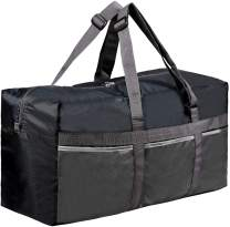 """RedSwing Foldable Duffle Bag, 75L/25"""" Water Resistant Travel Duffel Bag, Large Size, Lightweight and Multifunction for Men Women, Black"""