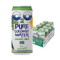 C2O Pure Coconut Water with Pulp, 16.3 Fluid Ounce, Pack of 8