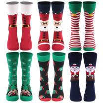 Novelty Funny Crazy Crew Socks, Gmark Mens Womens Colorful Fun Cool Sweet Words Dress Socks
