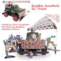 Zombie Roadkill Escape – 360 Crane Decapitator Tow Truck, Zombie Toy, Revolving Crane, Stand Up Zombies, Front Grill Impaler, Full Function Remote Radio Control, Gift for Adults & Kids, 2.4 Ghz