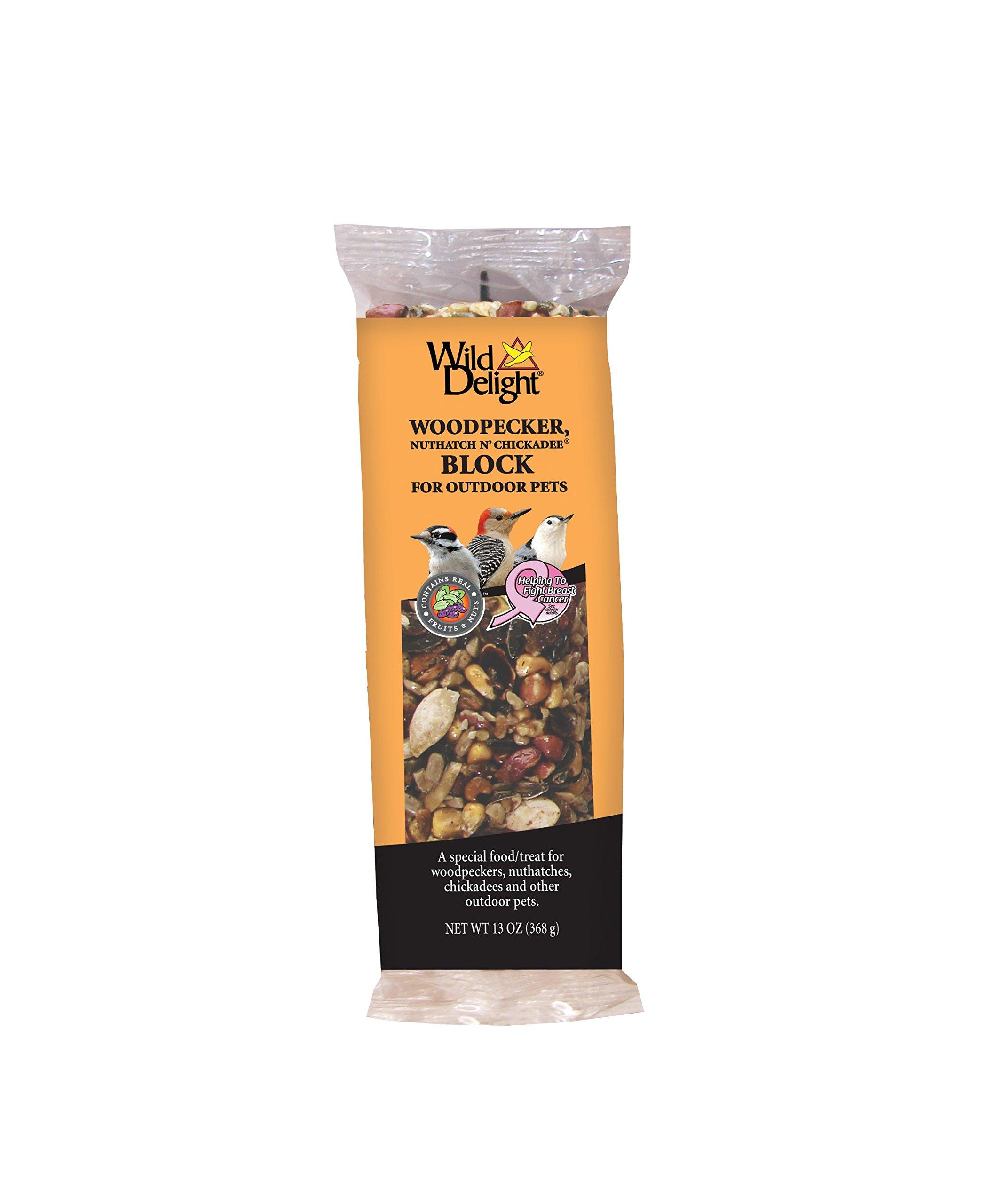 Wild Delight 388490 13 Oz Woodpecker & Wild Bird Nut Block