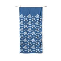 """Easthills Outdoors Microfiber Beach Towel Quick Dry Sandless Towel for Beach, Travel, Swim, Pool, Camping and Outdoors – Light and Compact (Ocean Lapis Blue, Extra Large 36"""" x 79"""")"""