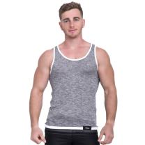 Taddlee Men Cotton Tank Top Sleeveless Solid Color Tshirt Slim Fit Soft Singlets (L, Gray)