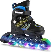 ANCHEER Inline Skates Adjustable Women Men Kids Roller Skates for Girls Boys Size 12-8 Aggressive Urban Toddler Skating